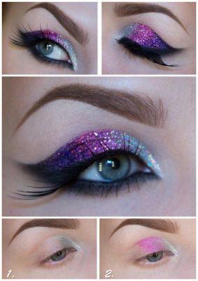maquillaje de ojos noche fiesta