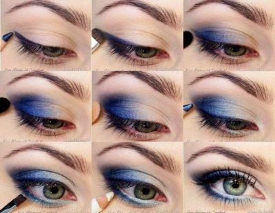 tecnicas de maquillaje de ojos grandes