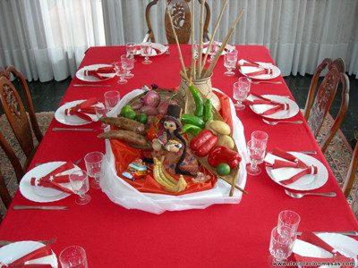 adornos para fiestas patrias peruanas para cena