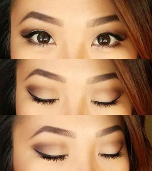 como maquillar ojos chinos mujer