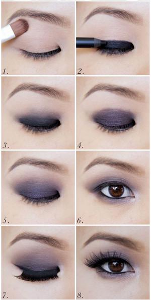 Como maquillarse ojos chinos paso a paso imagenes de for Como maquillar ojos ahumados paso a paso