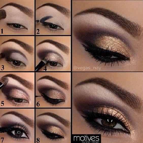 Tecnicas de como maquillar ojos marrones paso a paso for Como maquillar ojos ahumados paso a paso