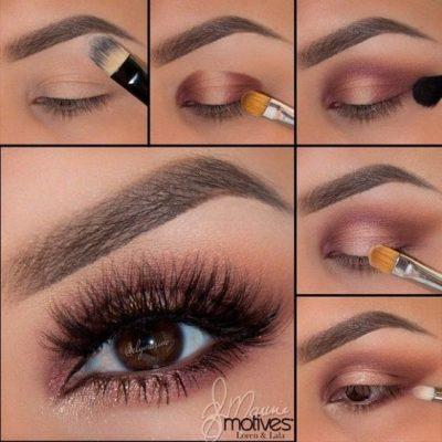 como maquillar ojos marrones paso a paso natural