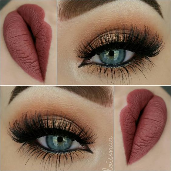Perfecto maquillaje cafe para ojos paso a paso imagenes for Labios mate paso a paso
