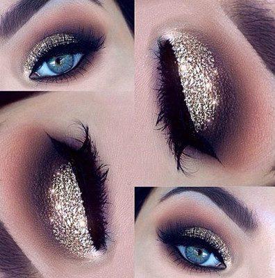 maquillaje de ojos con glitter paso a paso