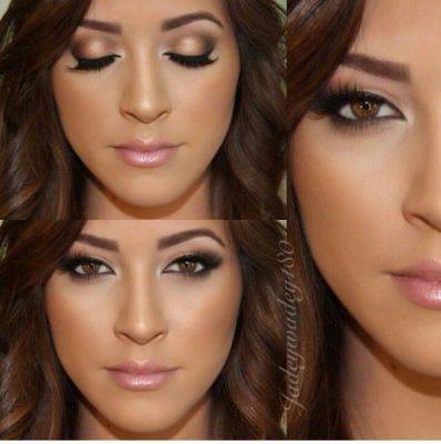 maquillaje de ojos para morenas piel