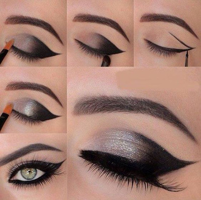 Maquillaje de ojos para vestido azul oscuro