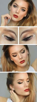 Maquillaje De Ojos Para Vestido Rojo De Día Y Noche