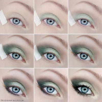maquillaje ojos caidos verdes