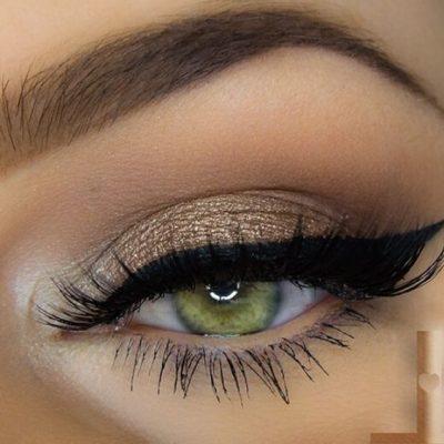 maquillaje ojos claros noche