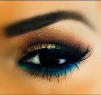 maquillaje para ojos negros pequeños