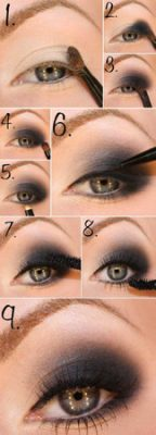 maquillaje para ojos noche natural