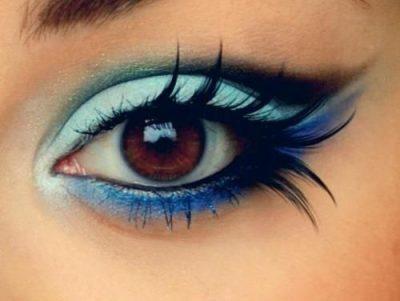 maquillaje sombras de ojos azul