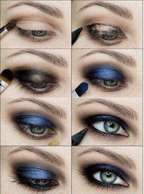 maquillaje sombras de ojos marron