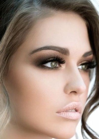 maquillaje ojos marrones grandes