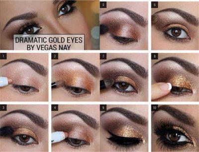 maquillaje para ojos oscuros ahumados