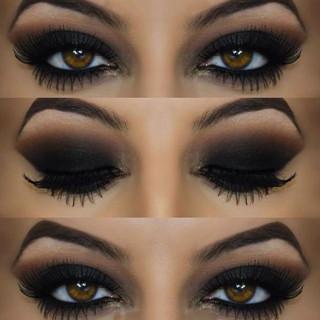 sombra de ojos negra casera